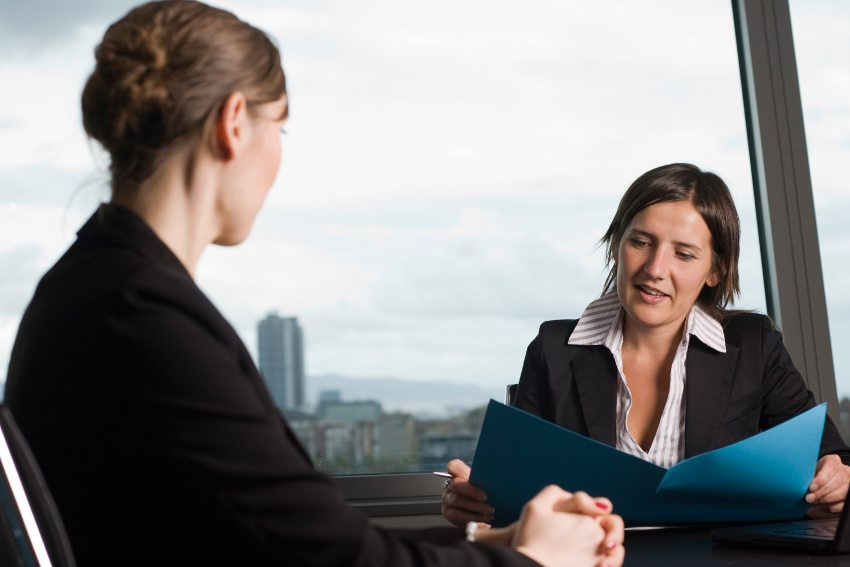 woman discussing bankruptcy options with a law firm