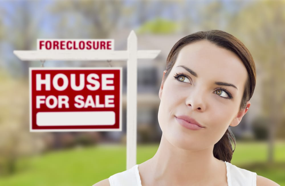 Woman questioning myths about bankruptcy and foreclosure