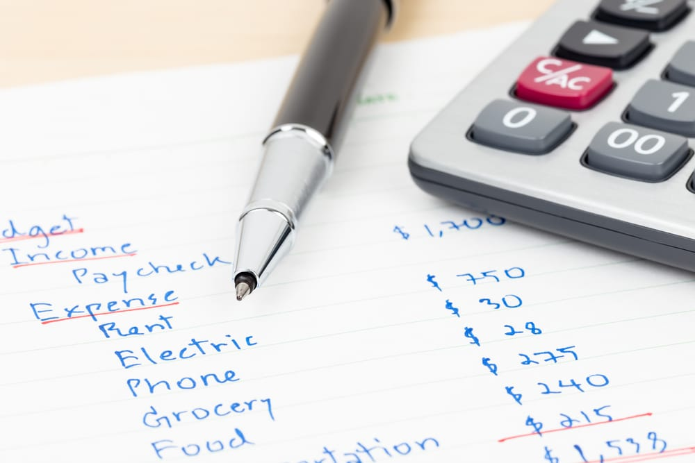 Making a budget to avoid Chapter 7 bankruptcy
