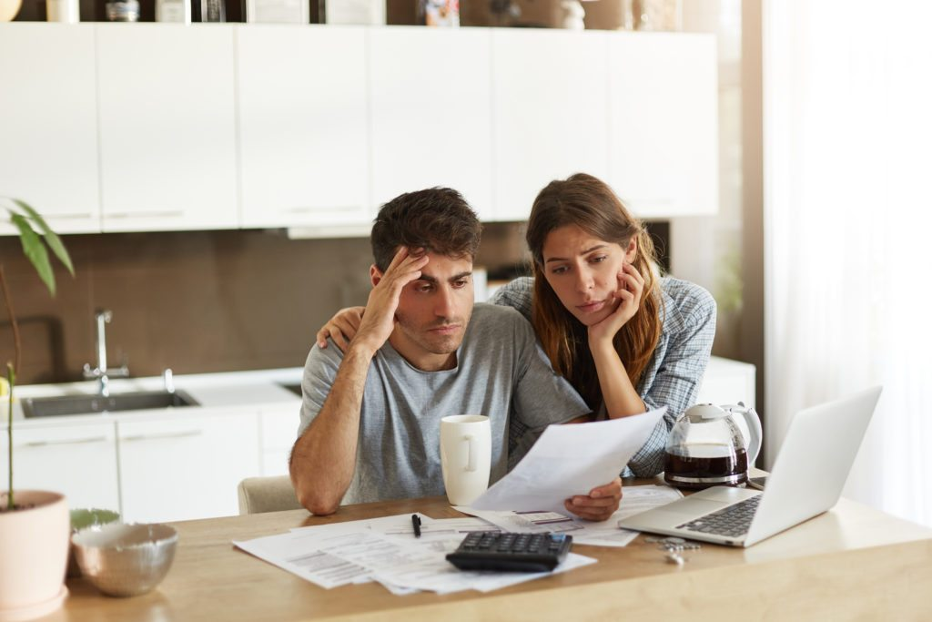 Young couple considering chapter 7 bankruptcy
