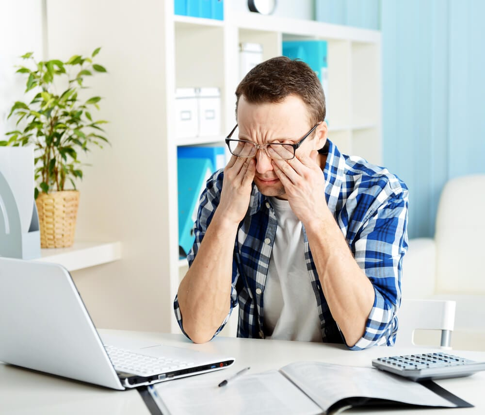 Man stressed about finances