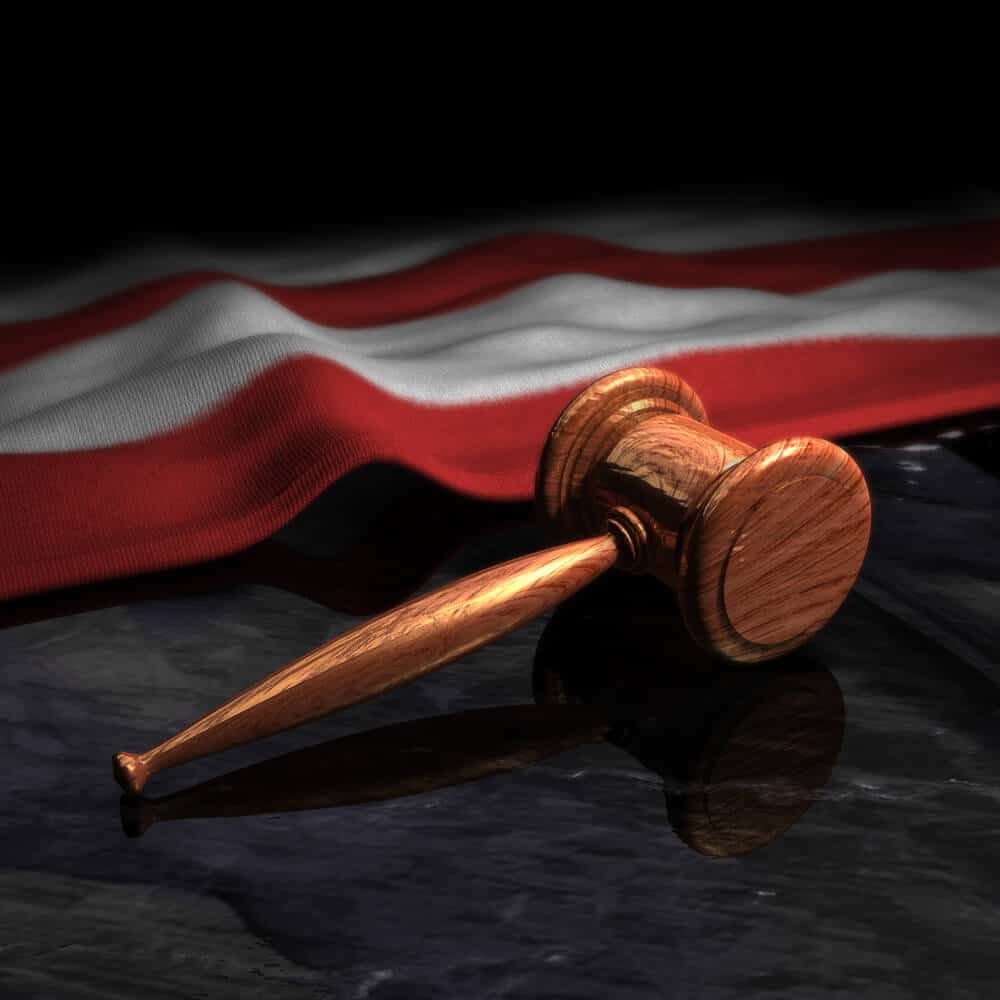 Gavel and the American flag